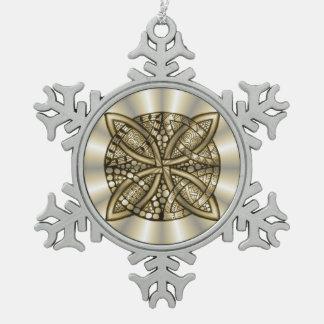 Gold Celtic Knot Original Artistic Design Ornament