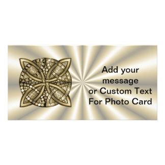 Gold Celtic Knot Original Artistic Design Photo Card