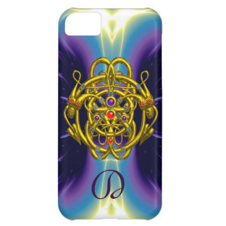 GOLD CELTIC KNOTS WITH TWIN DRAGONS COVER FOR iPhone 5C