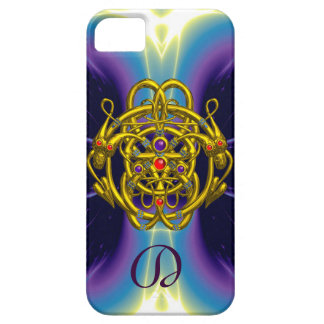 GOLD CELTIC KNOTS WITH TWIN DRAGONS iPhone 5 CASE