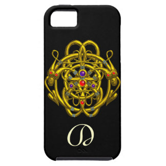 GOLD CELTIC KNOTS WITH TWIN DRAGONS iPhone 5 CASES