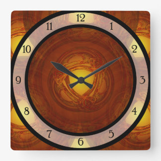 Gold Celtic Swirl Square Wall Clock