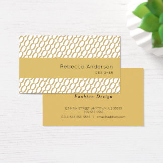 Gold Chain Knit Pattern Business Card