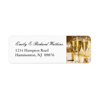 Gold Champagne Party Labels