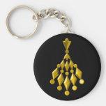 Gold chandelier keychains