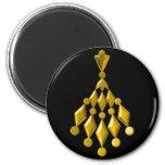 Gold chandelier refrigerator magnet