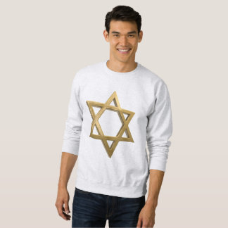 gold chanukkah star of david mens sweatshirt