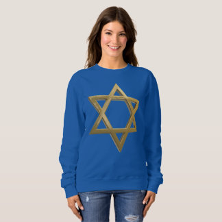gold chanukkah star of david womens sweatshirt