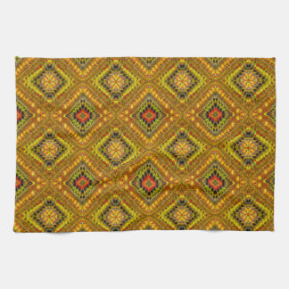 Gold Checkered Kitchen Towel