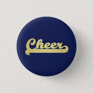 Gold Cheer Typography 1 Inch Round Button