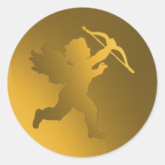 gold cherub stickers