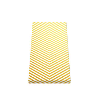 Gold chevron stretched canvas print