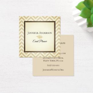 Gold Chevron Executive Square Business Card