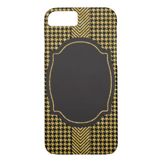 Gold Chevron Houndstooth Pattern iPhone 7 Case