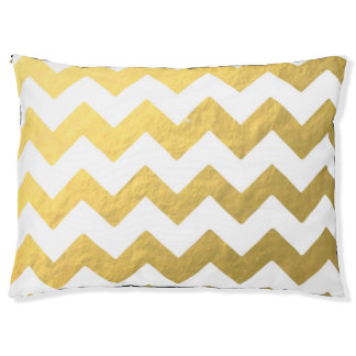 Gold Chevron Large Outdoor Dog Bed Large Dog Bed
