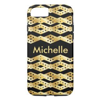 Gold Chevron Pattern iPhone 7 Case