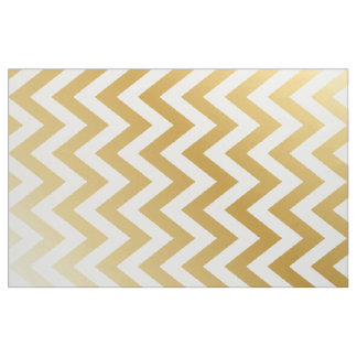 Gold Chevron Stripe Pattern Fabric