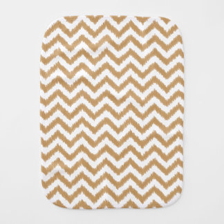 Gold Chevron Zigzag Pattern Baby Burp Cloth