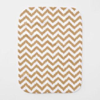 Gold Chevron Zigzag Pattern Burp Cloth