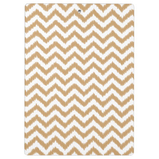 Gold Chevron Zigzag Pattern Clipboard