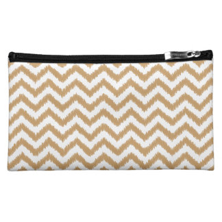Gold Chevron Zigzag Pattern Cosmetic Bags