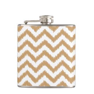 Gold Chevron Zigzag Pattern Flask