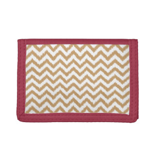 Gold Chevron Zigzag Pattern Trifold Wallet