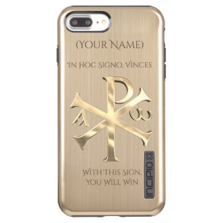 Gold Chi-Rho Incipio DualPro Shine iPhone 8 Plus/7 Plus Case