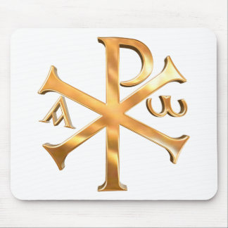 Gold Chi-Rho Mouse Pad