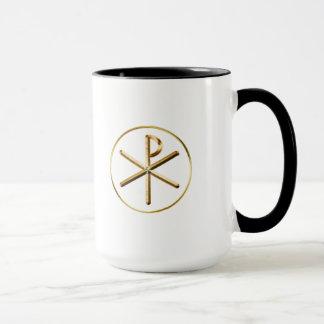 Gold Chi-Rho symbol Mug