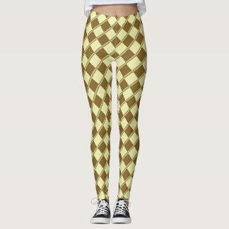 Gold Chic Pattern on Spring Yellow! Leggings