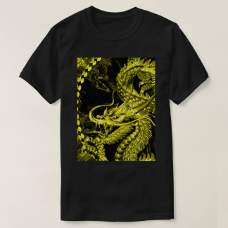 Gold Chinese Emperor Dragon Art Graphic Tee