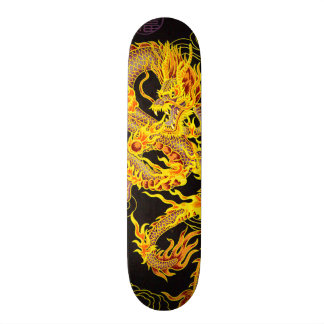 Gold Chinese Emperor Dragon Element Custom Pro Skateboard Deck