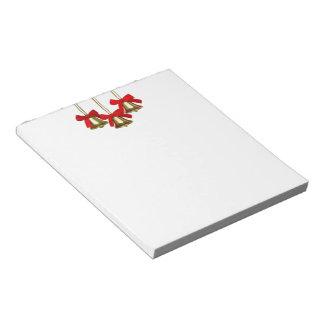 Gold Christmas Bells Notepad