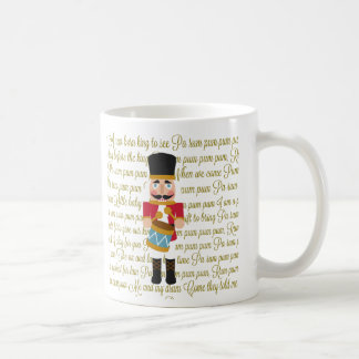 Gold Christmas Little Drummer Boy Coffee Mug