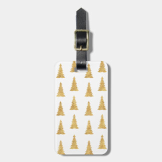 Gold Christmas Luggage Tag