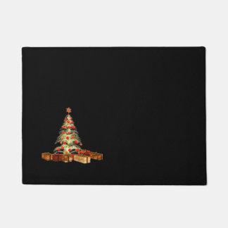 Gold Christmas Tree Doormat