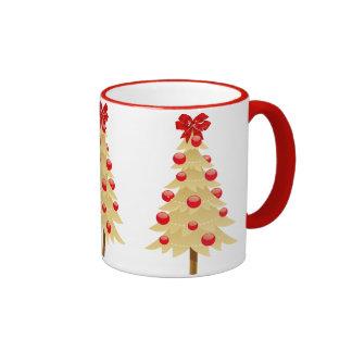 Gold Christmas Tree Coffee Mug