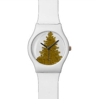 Gold Christmas Tree with Gifts Wristwatch