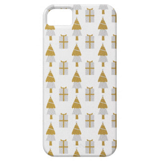 Gold Christmas Trees and Presents iPhone 5 Case
