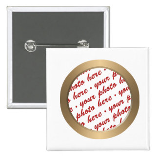 Gold Circle Photo Frame Template 2 Inch Square Button