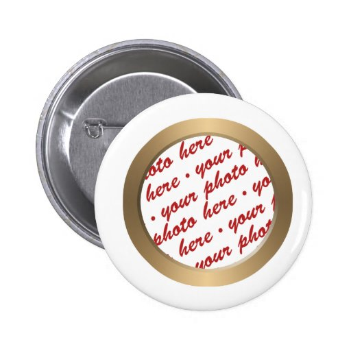 Gold Circle Photo Frame Template Buttons