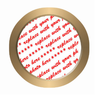 Gold Circle Photo Frame Template Cut Out