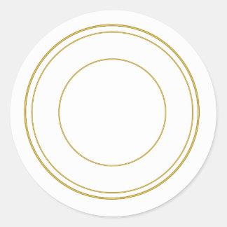 Gold Circle Round Decorative Sticker