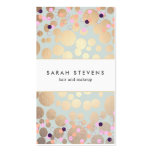 Gold Circles and Confetti Pattern Beauty Salon Pack Of Standard Business Cards