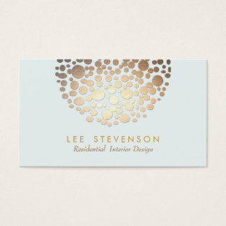 Gold Circles Embossed Look Business Card