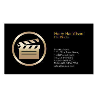 Gold Clapperboard Icon Director Business Card