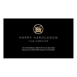 Gold Clapperboard Icon Film Director Visual Arts Business Card