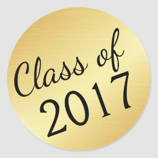 Gold Class of 2017 Graduation Stickers