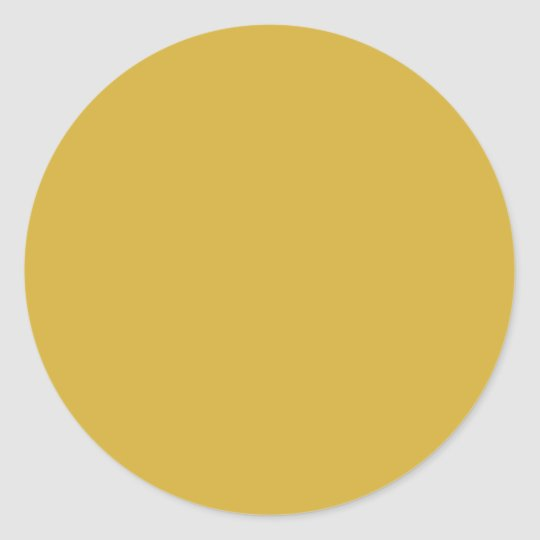 Gold Classic Round Sticker